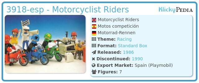 Playmobil 3918-esp - Motorcyclist Riders