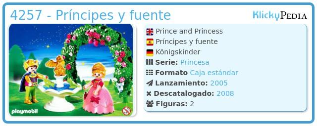 Playmobil 4257 - Príncipes y fuente
