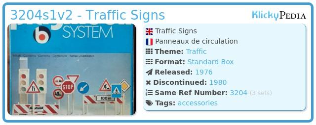 Playmobil 3204s1v2 - Traffic Signs