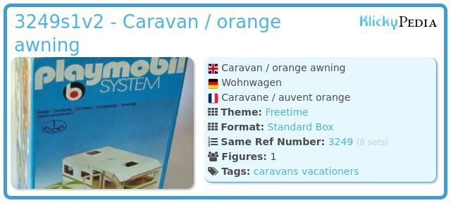 Playmobil 3249s1v2 - Caravan / orange awning