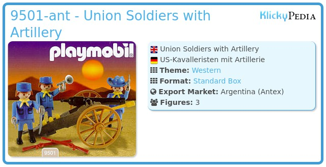 Playmobil 9501-ant - Union Soldiers with Artillery