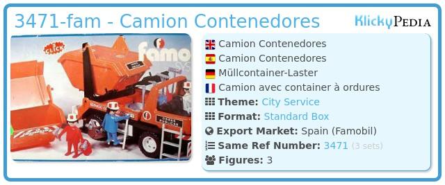 Playmobil 3471-fam - Camion Contenedores