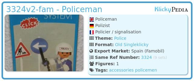 Playmobil 3324v2-fam - Policeman