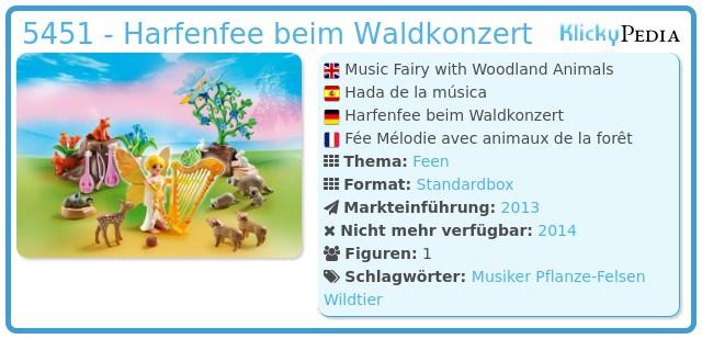 Playmobil 5451 - Harfenfee beim Waldkonzert
