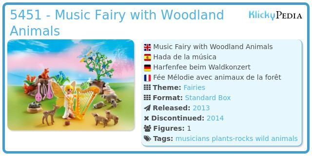 Playmobil 5451 - Music Fairy with Woodland Animals