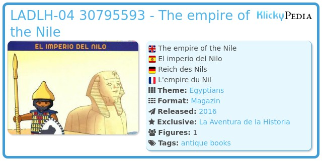Playmobil LADLH-004 30795593 - The empire of the Nile