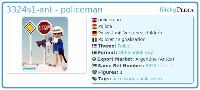 Playmobil 3324s1-ant - policeman
