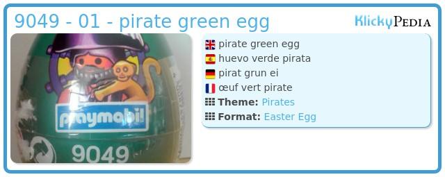 Playmobil 9049 - 01 - pirate green egg