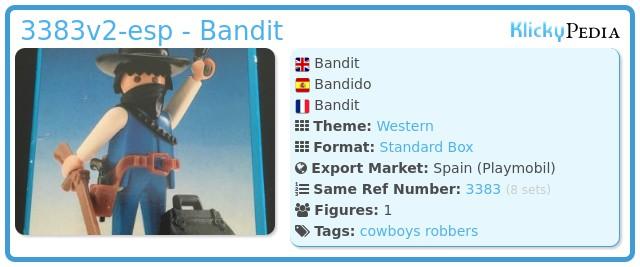 Playmobil 3383v2-esp - Bandit