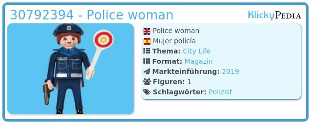 Playmobil 30792394 - Police woman
