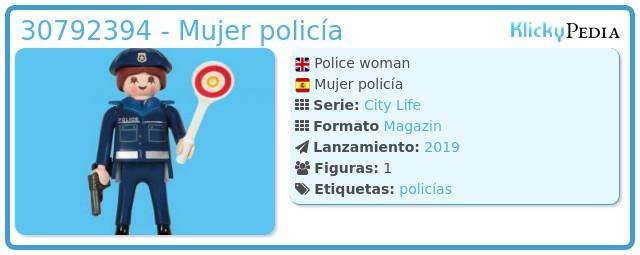 Playmobil 30792394 - Mujer policía