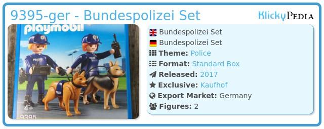 Playmobil 9395-ger - Bundespolizei Set