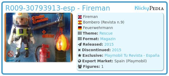 Playmobil R009-30793913-esp - Fireman