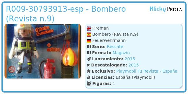 Playmobil R009-30793913-esp - Bombero (Revista n.9)
