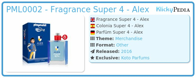 Playmobil 00000 - Fragrance Super 4 - Alex
