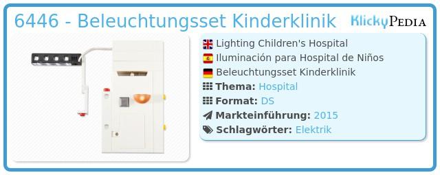 Playmobil 6446 - Beleuchtungsset Kinderklinik