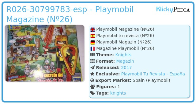 Playmobil R026-30799783-ESP - Dragon Knight