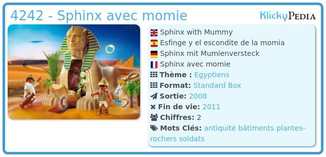 Playmobil 4242 - Sphinx avec momie