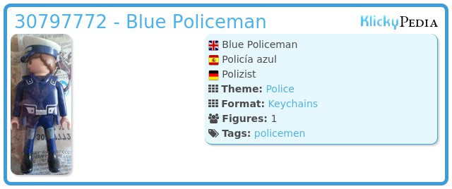 Playmobil 30797772 - Blue Policeman
