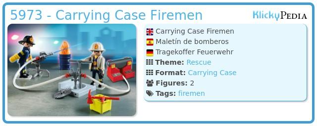 Playmobil 5973 - Carrying Case Firemen
