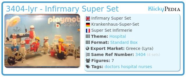 Playmobil 3404-lyr - Infirmary Super Set