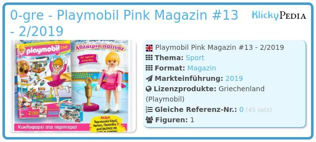 Playmobil 0-gre - Playmobil Pink Magazin #13 - 2/2019