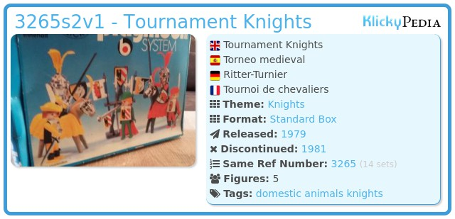 Playmobil 3265s2v1 - Tournament Knights