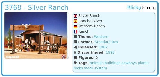 Playmobil 3768 - Silver Ranch