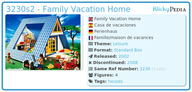 Playmobil set 3230s2 family vacation home klickypedia - Playmobil 3230 casa de vacaciones ...