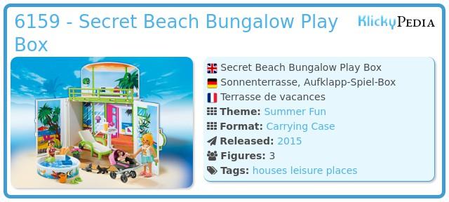 Playmobil 6159 - Secret Beach Bungalow Play Box
