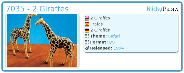 Playmobil 7035 - 2 Giraffes
