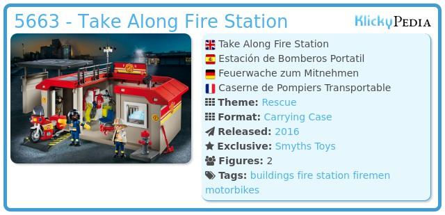 Playmobil 5663 - Take Along Fire Station