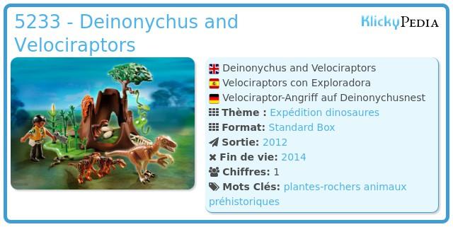 Playmobil 5233 - Deinonychus and Velociraptors