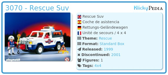 Playmobil 3070 - Rescue Suv