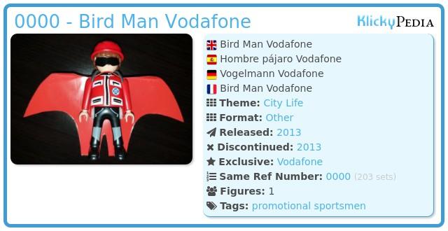 Playmobil 0000 - Bird Man Vodafone