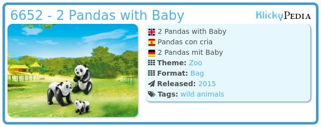 Playmobil 6652 - 2 Pandas with Baby