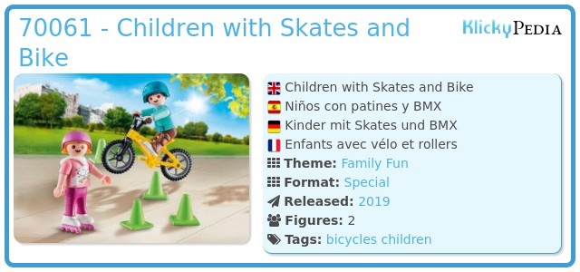 Playmobil 70061 - Kids with skates and BMX