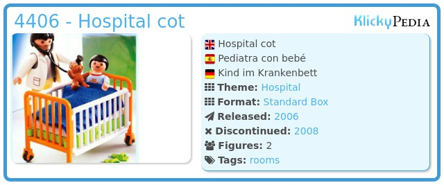 Playmobil 4406 - Hospital cot