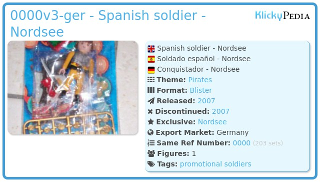 Playmobil 0000v3-ger -  Spanish soldier - Nordsee