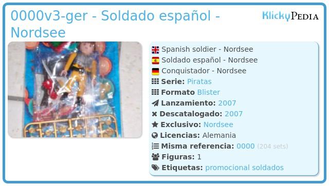 Playmobil 0000v3-ger - Soldado español - Nordsee