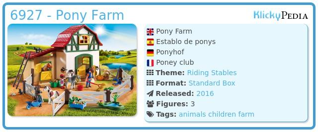 Playmobil 6927 - Pony Farm