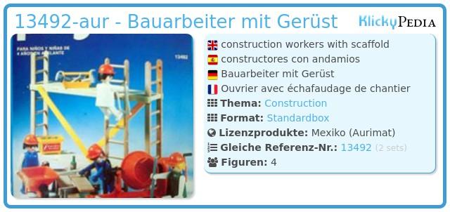 Playmobil 13492-aur - Bauarbeiter mit Gerüst
