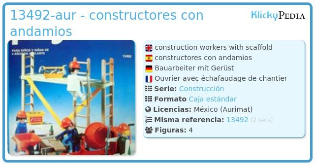 Playmobil 13492-aur - constructores con andamios