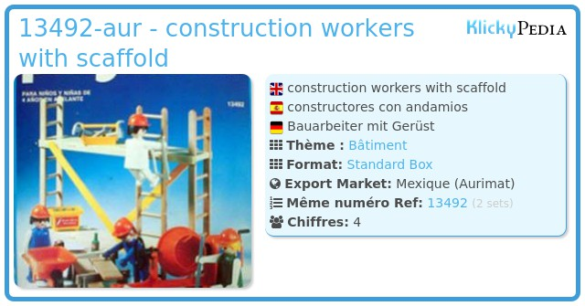 Playmobil 13492-aur - construction workers with scaffold
