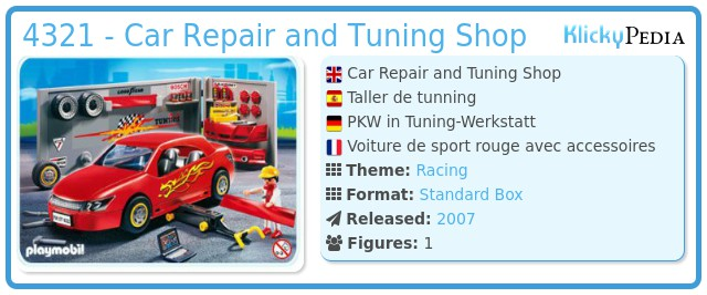 Playmobil 4321 - Car Repair and Tuning Shop