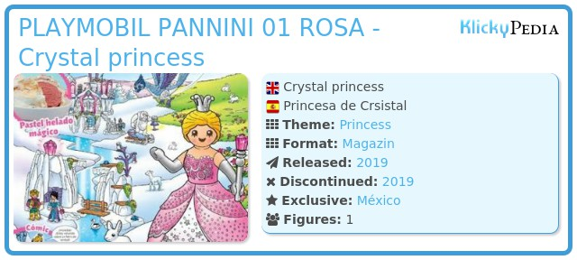 Playmobil PLAYMOBIL PANNINI 01 ROSA -  Crystal princess