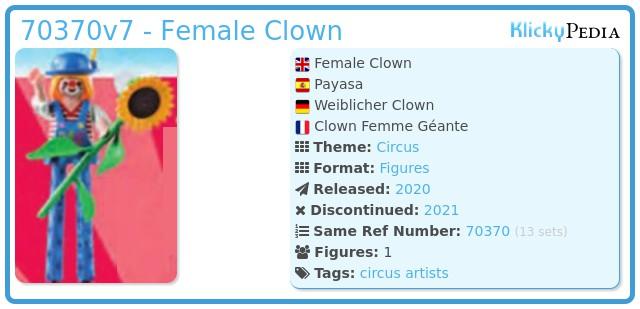 Playmobil 70370-07 - Clown woman