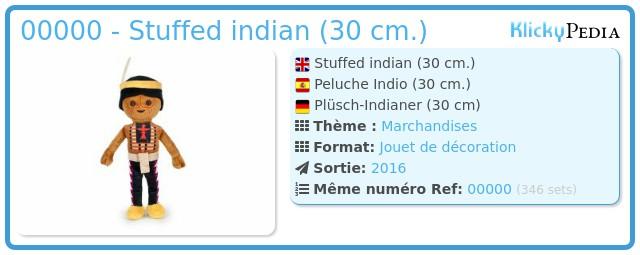 Playmobil 00000 - Stuffed indian (30 cm.)