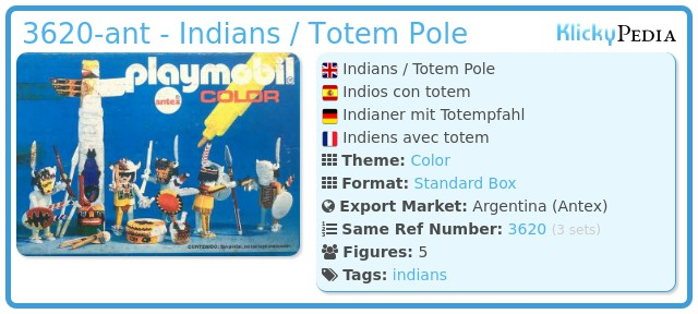 Playmobil 3620-ant - Indians / Totem Pole