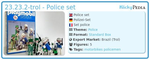 Playmobil 23.23.2-trol - Police set